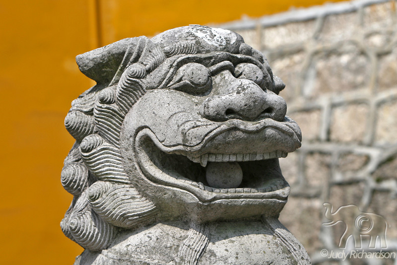 Lion at Mt. Juihua Temple