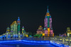 Colourful ice city, Harbin Ice Festival,China