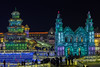 Crowds at the Harbin Ice Festival, China