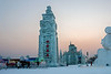 Harbin ice festival at sunset, Harbin, China