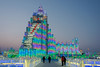 Sky scraper with a myriad of lights, Harbin Ice Festival
