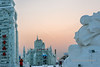 Setting sun, Ice Festival, Harbin, China<br /> <br /> You can see that the sun is quite dim (lower center), due to the air pollution.