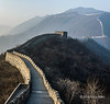 View along the Mutianyu Great wall from a watch tower, China
