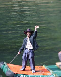 Man on Boat, Lijiang River, Yang Shuo, China