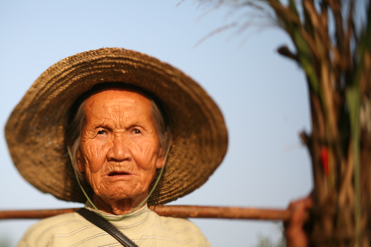 Woman, Yang Shuo, China<br /> A close-up of the serious pose, before I got her to smile.