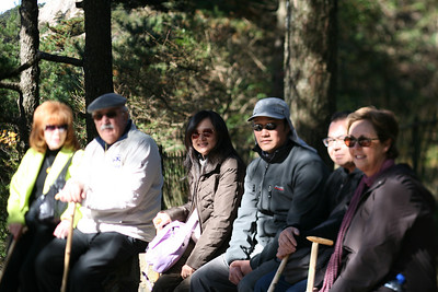 Part of our PAC Tour Group, Yellow Mountain, Huangshan, China
