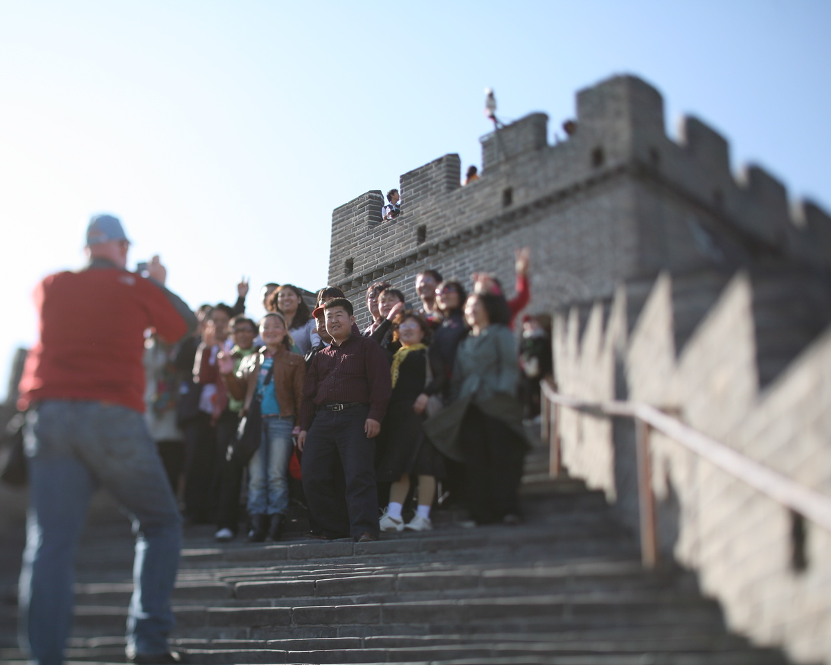 Craig and another Tour Group, Great Wall, China