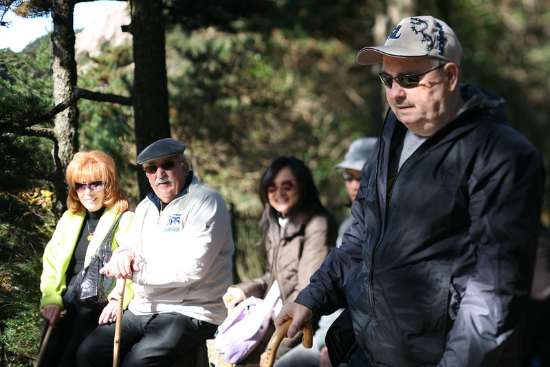 Part of the PAC Tour Group, Yellow Mountain, Huangshan, China