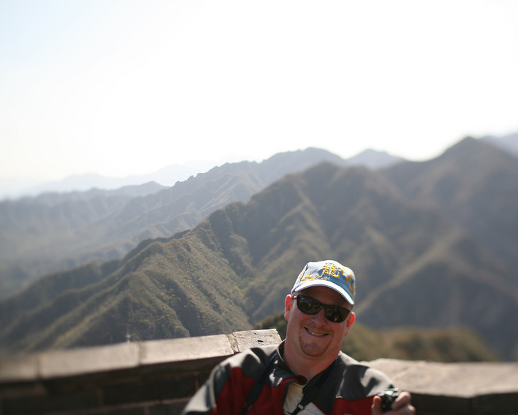 Craig, top of the Great Wall