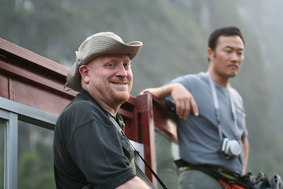 Craig and Davy, Lijiang River, near Yang Shuo, China