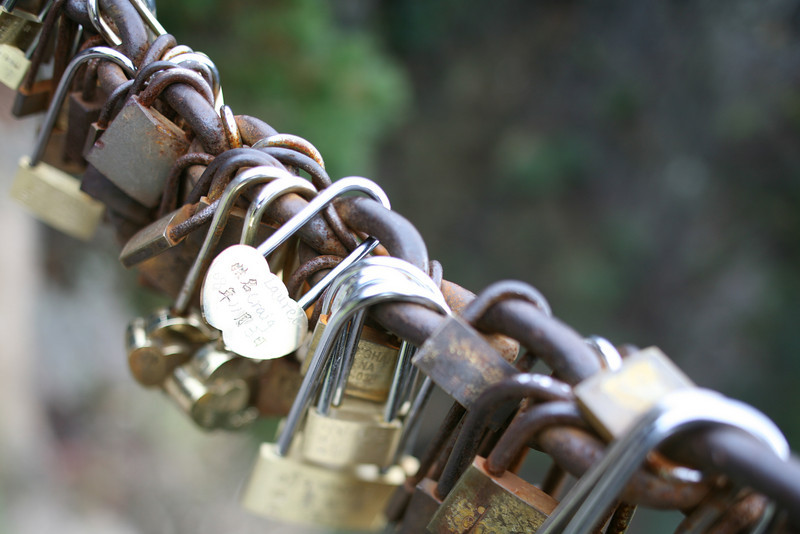 Our Lock, Yellow Mountain, Huangshan, China<br /> We bought a lock and had it engraved to add to the chain. The locks symbolize everlasting love.