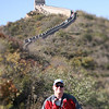 Craig, on his way to the top of the Great Wall
