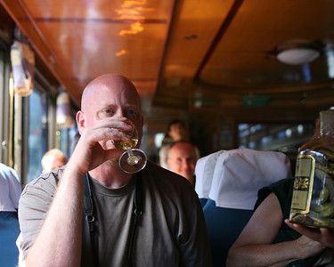 Craig Drinking Snake Bile Wine, Lijiang River Boat, China
