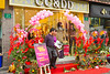 A florist shop in the water village of Qibao, China, Asia.