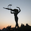 Lady and lute. I didn't think much of the statue but she makes a great silhouette.
