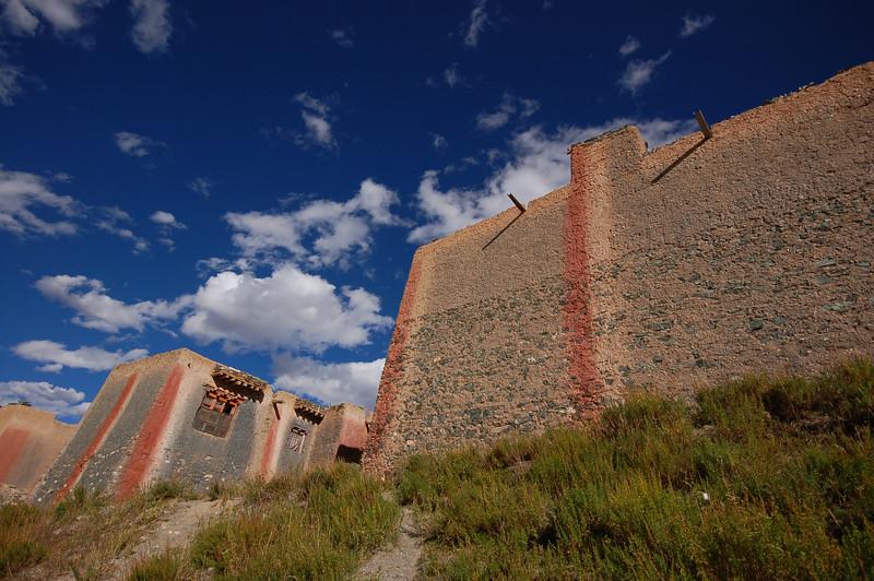 Walls of the Jyekundo Dongdrubling Monastery