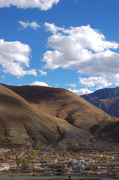 View of Yushu from the monastery