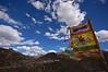 Prayer flags across from the Jyekundo Dongdrubling Monastery