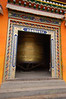 Giant spinning prayer wheel of the Rongwo Gonchen Gompa