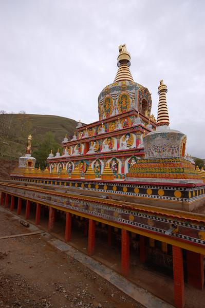 Ornate chorten at the Lower Wutun Monastery