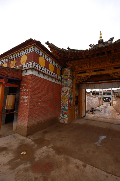 Entering the Lower Wutun Monastery