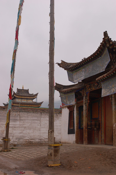 Morning mist over the Rongwo Gonchen Gompa
