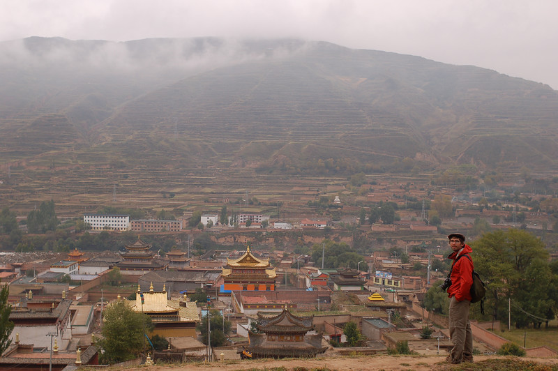 Yann above the Rongwo Gonchen Gompa