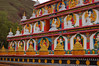 Detail of a chorten at the Lower Wutun Monastery