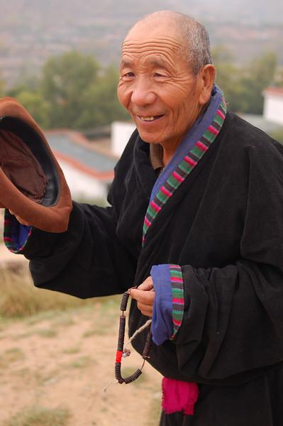 A pilgrim on his morning kora