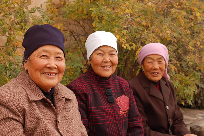Some Hui Muslim ladies at the monastery.