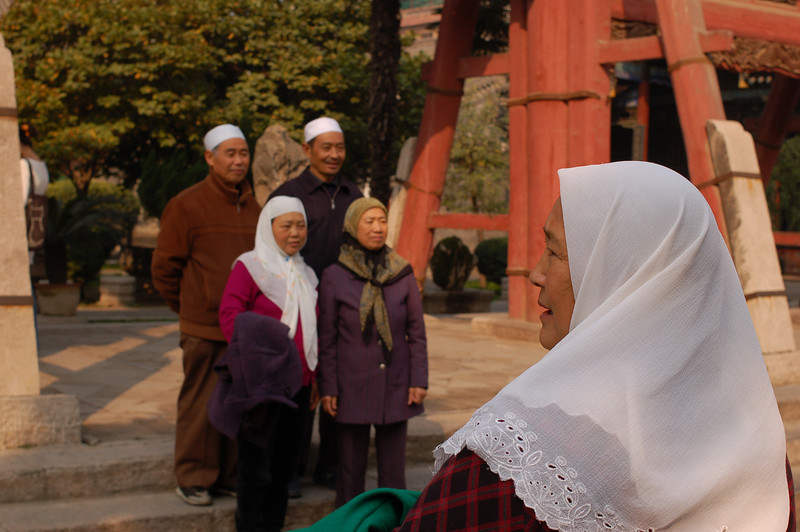 Muslim tourists at the Great Mosque