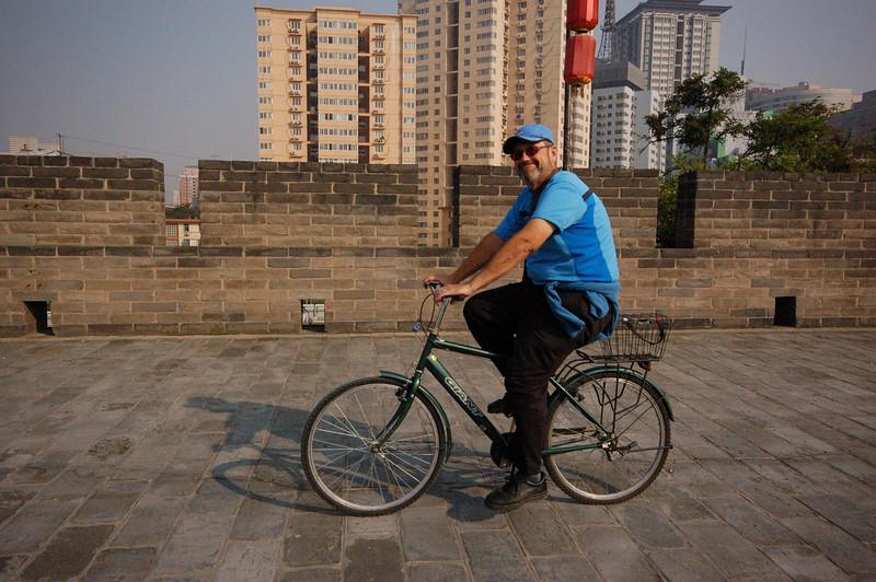 Jean on his city walls bike tour