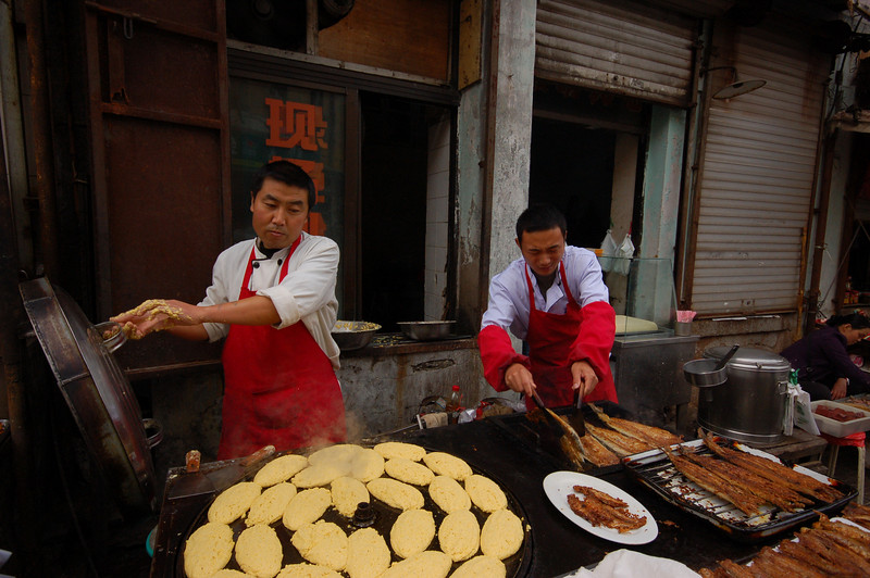 Lunch: Fried fish with fresh cornbread