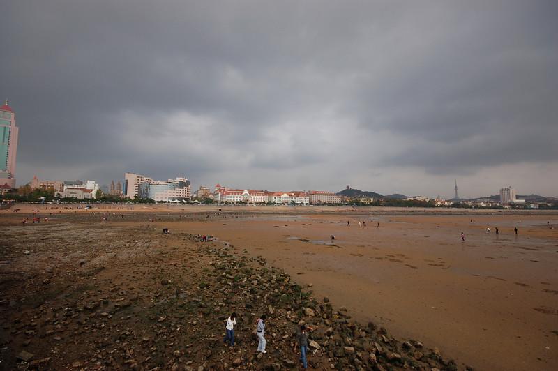 Qingdao Bay at low tide