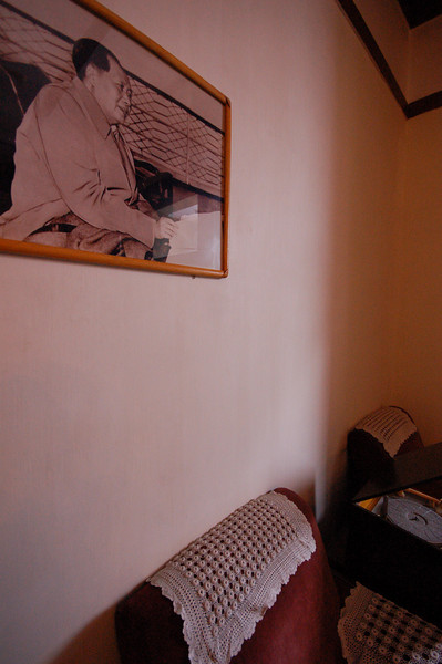The bedroom where Mao and his family slept in the former German Governor's residence
