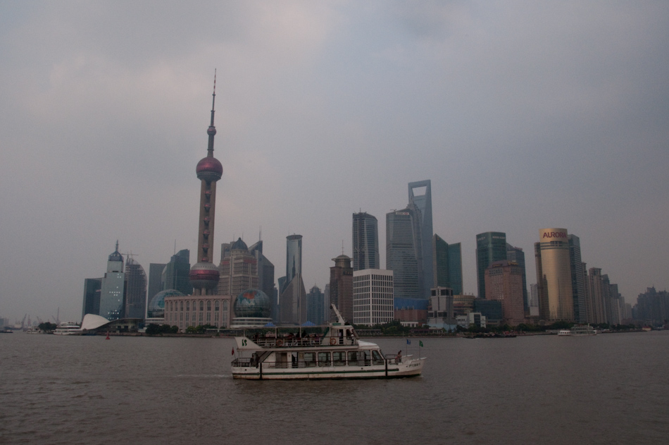 Shanghai''s Pudong district seen from the Bund