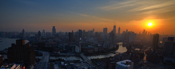 Sunset over Shanghai (90335495)