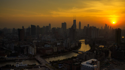 Sunset over Shanghai
