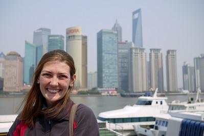 The Bund in the daytime in Shanghai, China