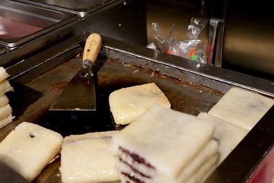 Fried sweet rice patties Shanghai, China