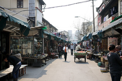 Antiques market in Shanghai, China
