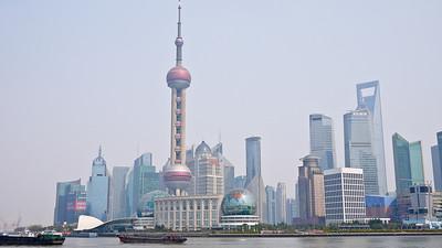 Iconic buildings on Shanghai's skyline, China