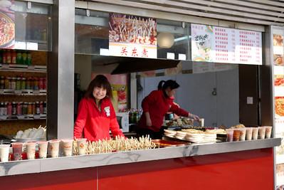Morning breakfast vendor in Shanghai, China