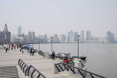 Reminiscent of Cuba's malecon, The Bund in Shanghai, China