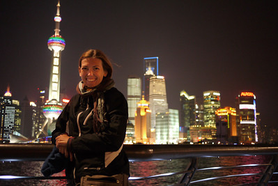 Enjoying the Bund in Shanghai, China
