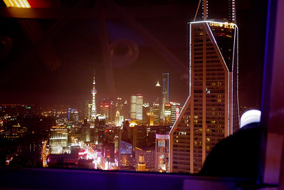 Views from the Radisson roof-top bar in Shanghai, China