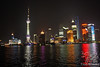 View of Shanghai Pudong area from Bund at night