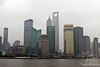 View of Shanghai Pudong Skyline from the pedestrian walkway on the Bund