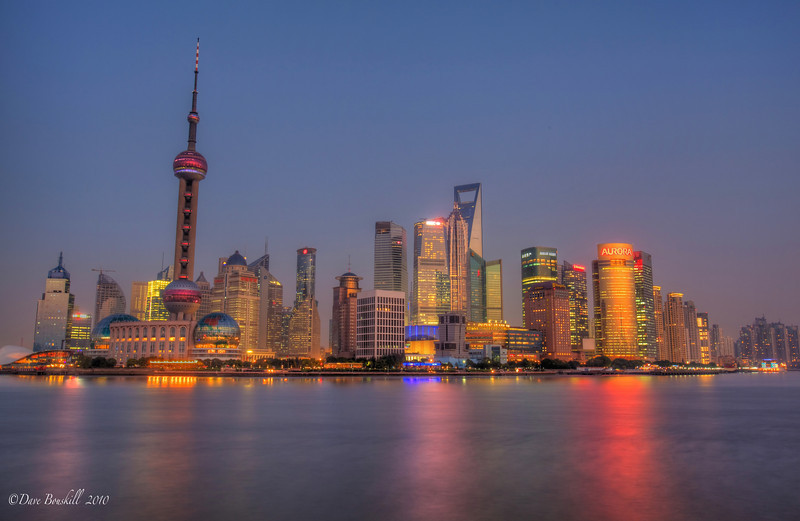 shanghai skyline at night, Mainland china