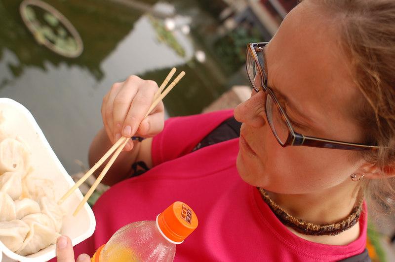 Famous pork dumplings (outside Yuyuan)